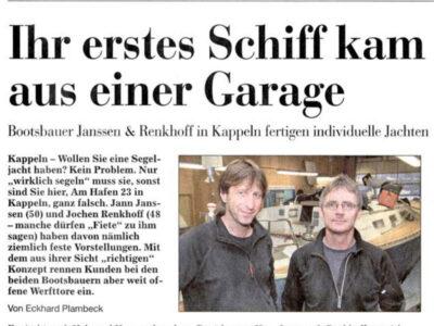 Werftportrait aus den Kieler Nachrichten vom 23.01.2003