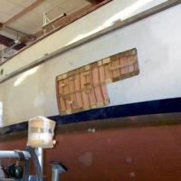 Havarieschaden: Vorbereitung der Laminierarbeiten