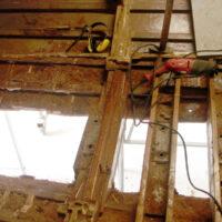 Havarieschaden: Vorbereitung für die Strukturarbeiten