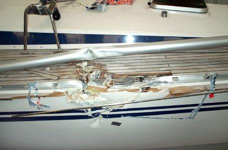 Reparatur eines Havarieschadens