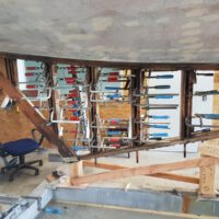 Verstärkung der Kielflossen-Konstruktion