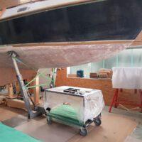 Vorbereitungen für die Laminierarbeiten